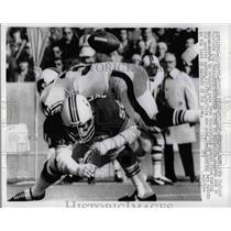 1972 Press Photo Patriots  Jim Cheynuski vs Bills Jim Braxton