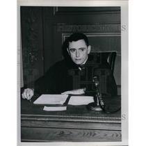 "1958 Press Photo Dr Edgar Allan Jones Jr, Judge on ""Day in Court"""