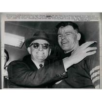 1963 Press Photo Bears coach Gweorge Halas & QB Bill Wade