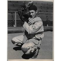 1940 Press Photo Ed Boleing, Young Catcher