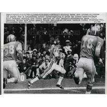 1970 Press Photo Minnesota Vikings Bob Bryan Detroit Lions Bill Munson QB