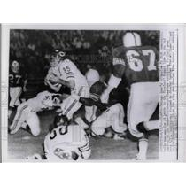 1962 Press Photo Bears Rick Casares vs Steelers Fred Williams, J Simpson,Schmidt