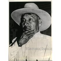 1940 Press Photo Chief Estahakee of Wewoka, OK, leader of Seminole Indians
