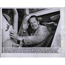 1956 Press Photo Airline Pilot William Judd Taking Solo Flight to Cairo