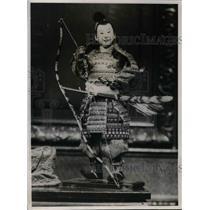 1932 Press Photo Exhibit of Japanese ceremonial dolls