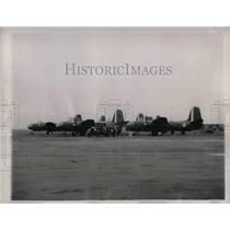 1941 Press Photo 3 Bombing Planes Loaded & Headed to England