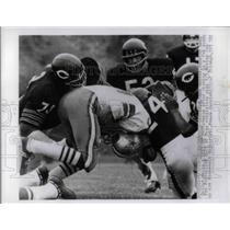1968 Press Photo Cowboys Dan Reeves vs Bears R Taylor, F Cornish - nea14920