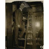 1916 Press Photo John M. Harsh, teacher of Commerce High