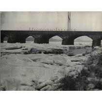 1934 Press Photo Ice Jams in Delaware River between Philadelphia PA and Trenton