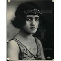 1925 Press Photo Florence Rudolph, singer