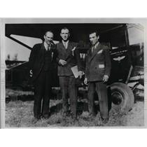 1934 Press Photo Casey Jones Pilot Robert Oertel Clarence Young - nea30372