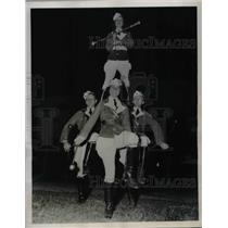 1938 Press Photo Majorette, Mary H Hodges, J Farnell,Griffin in Atlanta, Ga.
