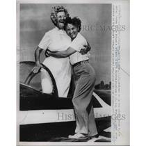 1952 Press Photo Mrs Zaddie Budher Age 65 Oldest Woman to Hold Pilots License