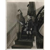 1931 Press Photo Scout Harold Snyder Troop 534 & Roger Bart - nea36195
