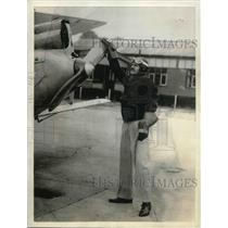 1934 Press Photo Maurice Wilson of The London Aero Club & his plane - nea35441