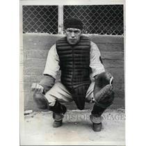 1935 Press Photo William Lewis, Boston Braves Catcher