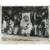 1926 Press Photo English Yomen State Anti-War Demonstrations Lyde Park London