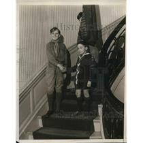 1931 Press Photo Scouts Harold Snyder & Roger Part of French Scouts - nea36196