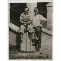 1933 Press Photo M. Latsky S.P. Beldon Belmont Hotel vacation - nea36152