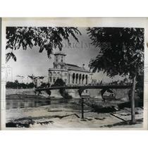 1941 Press Photo Tzar Bridge and Officers' Home in Yugoslavian City Skoplje