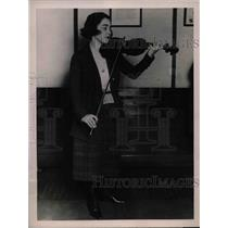 1922 Press Photo Miss Olga Eitner Violin Virtuoso