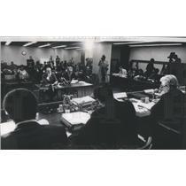 1972 Press Photo School Supt.James F.Redmond and John Carey School Board Pres.