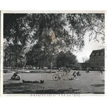 1971 Press Photo Students relaxing on a pretty day at Florida State University