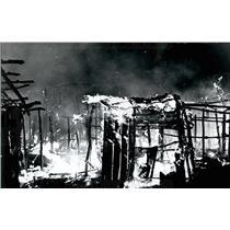 1968 Press Photo Fire at scene of Kenya - Nairobi aircrash - KSB30877