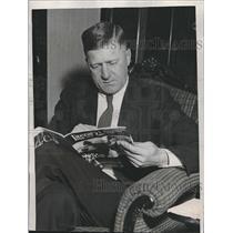 1934 Press Photo Veteran White Sox Pitcher Urban Faber Retires