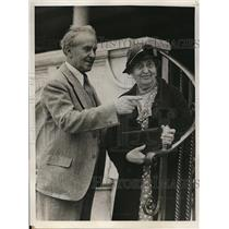 1933 Press Photo Dr. And Mrs. Albert Herre Curator Of Stanford Zoological Museum