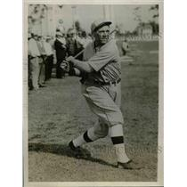 1928 Press Photo Miller Harris, Philadelphia Athletics Outfielder