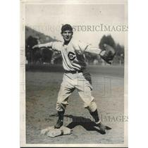 1931 Press Photo Chicago Cubs infielder Elwood English