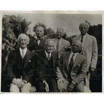 1934 Press Photo Charter members of Home Pocket Billiards Club of Hillsboro CA