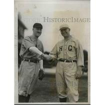 1931 Press Photo H.T. Sawyer of Yale, J.C. McGlone of Harvard, Alumni Game