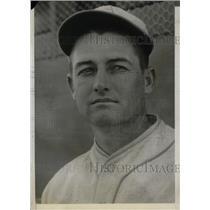 """1930 Press Photo William """"Bill"""" Shores of Philadelphia Athletics"""