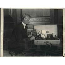 1923 Press Photo Captain Ed Burke, Superintendent of Roosevelt Home, New York