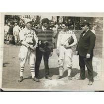 1926 Press Photo Teenage Baseball Players at Championship Game for Carnival