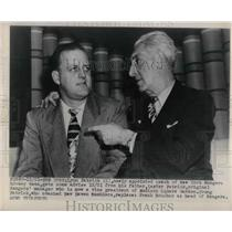 1948 Press Photo Coach Lynn Patrick, father Lester Patrick
