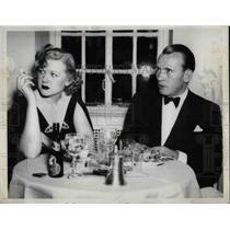 1936 Press Photo Miss Honey Johnson, Frank Rediker, St. Regis