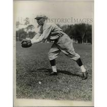 1929 Press Photo Otto Dumas Rookie Outfielder Boston Red Sox