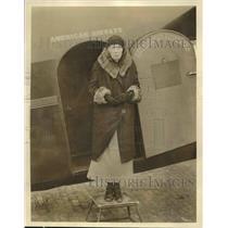 1933 Press Photo Miss Perrin, America's Oldest Air Traveler - nex01143