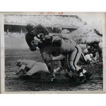 1953 Press Photo Philadelphia eagles Vs Browns Jim Palmer Michels - nea45152