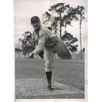1936 Press Photo Lee Rogers Rookie Boston Red Sox