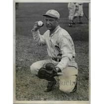 1931 Press Photo John Heving, Philadelphia Athletics Catcher