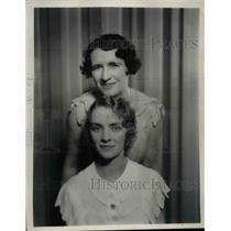 1933 Press Photo Piano Team Doris Havens & Mary Mack on CBS