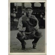 1931 Press Photo John Heving, Catcher for Philadelphia Athletics