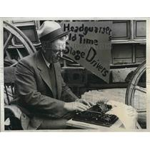 1934 Press Photo Old-Tie Stage Coach Drivers Meet