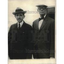 1923 Press Photo Will Hays, Mr. George Harvey, Ambassador to Court of St. James