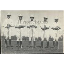 1923 Press Photo Polo Players Tremaine, Barley, Irwin, Jr., and Barby