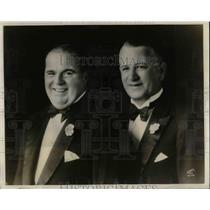 1930 Press Photo Jack Richards, Billy Church, Radio Artist Kingtaste Nightclub